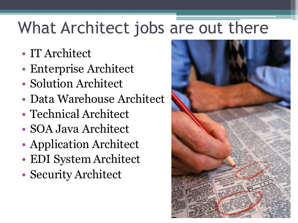 architecture architect jobs profession enterprise solution slideshare