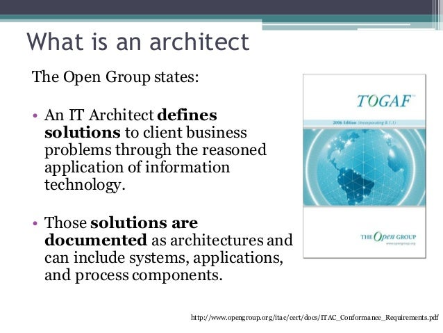 What is an architect The