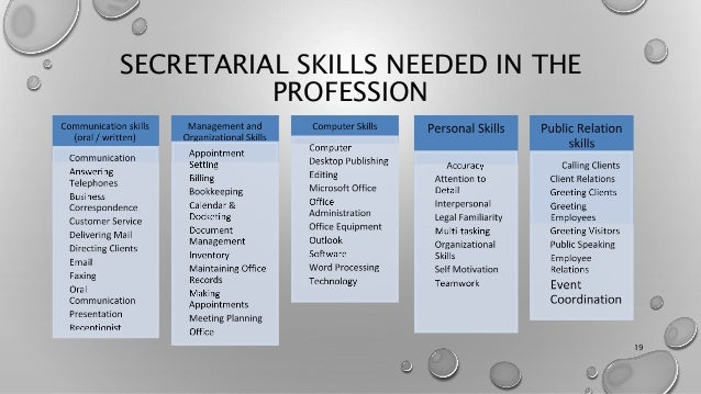 secretarial skills - Selo.l-ink.co