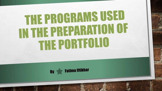 The Programs Used