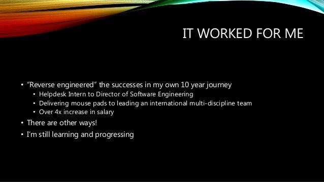 Progressing as a Software Developer Slide 3