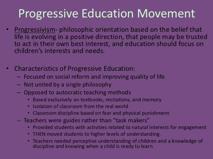 progressivism philosophy of education pdf