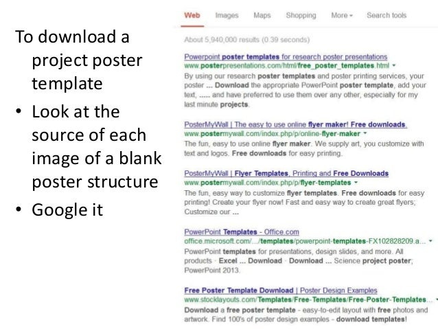 Science project poster template vatozozdevelopment science project poster template toneelgroepblik Gallery