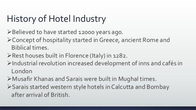 history and development of hotel industry