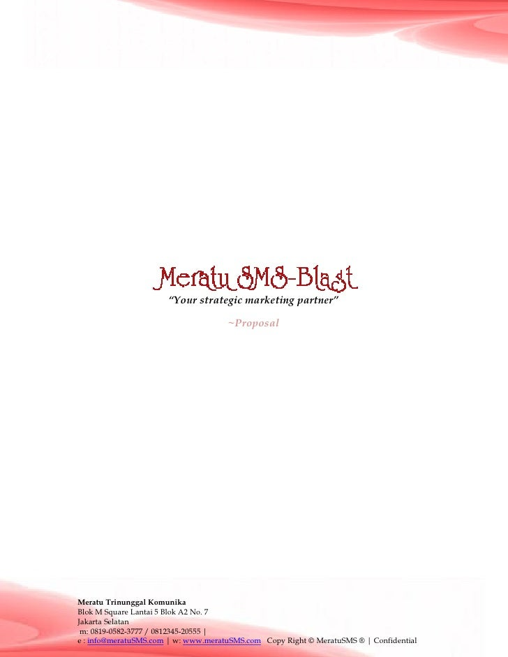 """Your strategic marketing partner""                                       ~Proposal     Meratu Trinunggal Komunika Blok M S..."