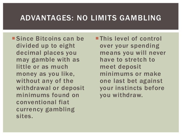 The gambling question pros and cons