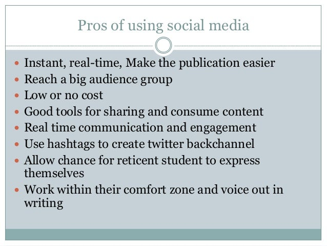 The pros and cons of social media
