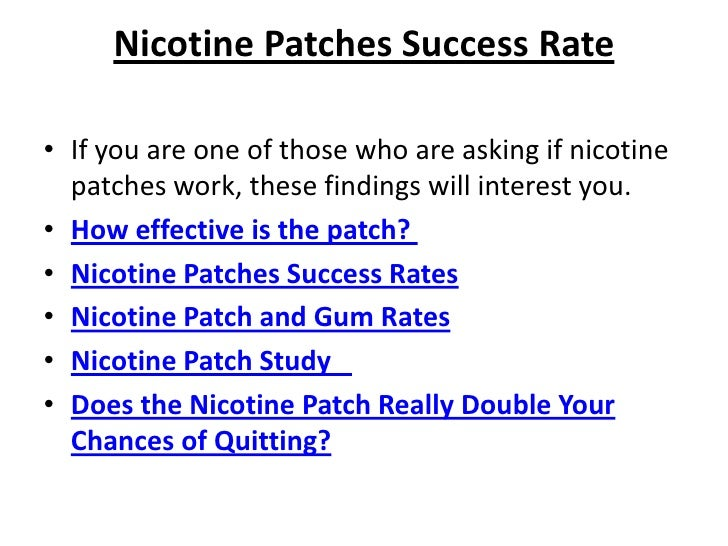 The Pros And Cons Of Using Nicotine Patches
