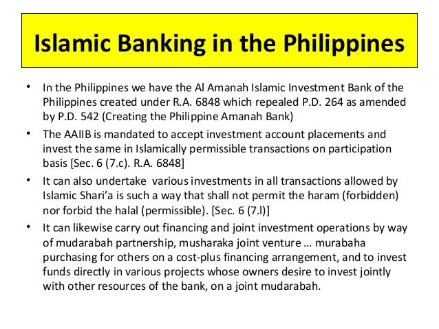 al amanah islamic investment bank of the philippines Previous al-amanah islamic investment bank of the philippines, metroaces mgt  co, amanah islamic bank education asian institute of management.