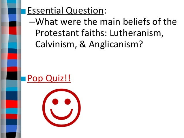 calvinism vs lutheranism essay A lutheran evaluation of the five points of calvinism often in evangelicalism labels: calvinism vs lutheranism 18 comments: orthodoxy hunter said.