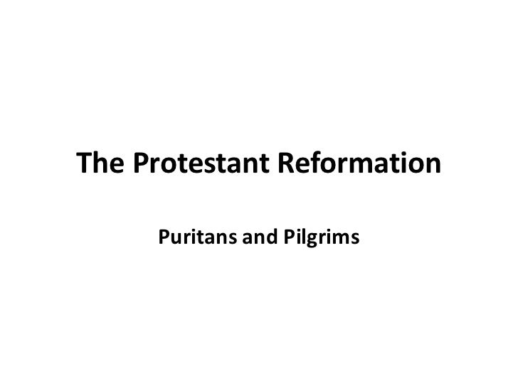 The Protestant Reformation     Puritans and Pilgrims