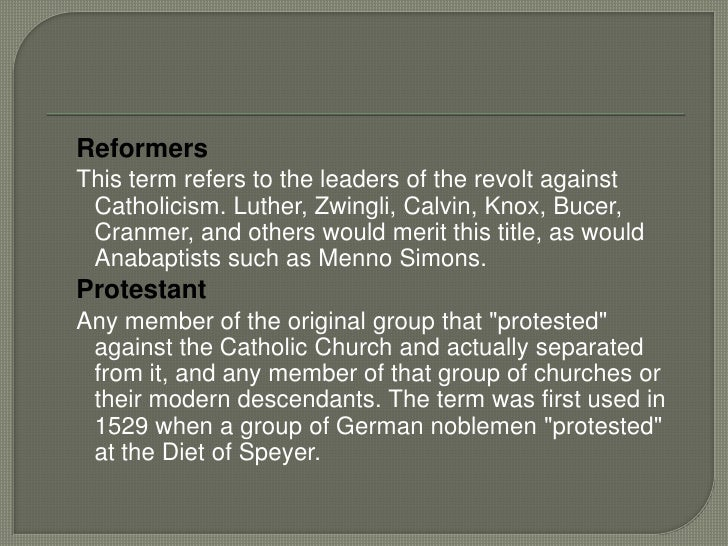 the magisterial reformers The reformation featured several distinct models of public theology the first  owes to the magisterial reformers, who believed that the church.