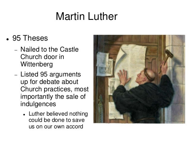 "martin luther thesis statement 2 the 95 theses by martin luther 1 when our lord and master jesus christ said, ""repent"" (mt 4:17), he willed the entire life of believers to be one of repentance."
