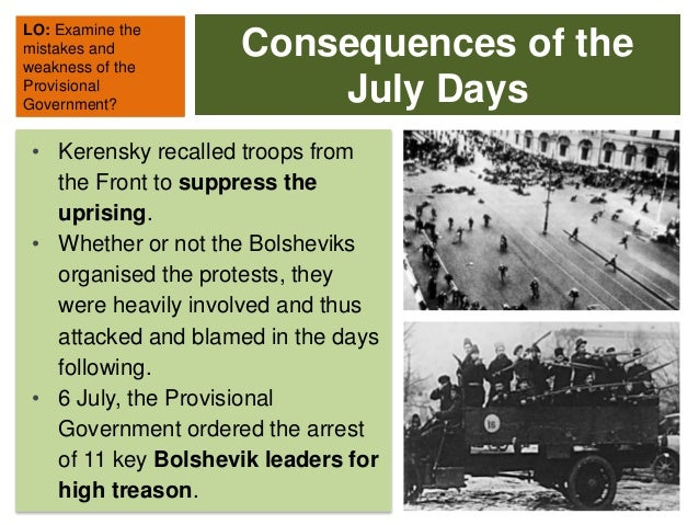 weakness of the provisional government an It took a mere 500 bolshevik troops to storm the winter palace and overthrow the provisional government  the weakness of the provisional governments own military.