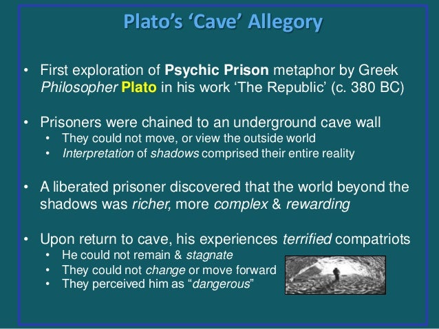 prisoners plight in platos cave allegory Read on to know how plato, through allegory of the cave, brings forth the  up  this plight of humans by depicting them as prisoners in a cave.