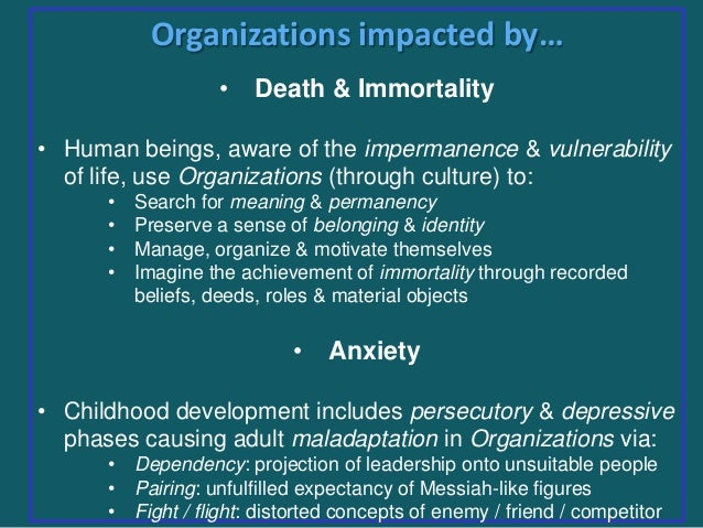 organization base on culture metaphor In the metaphor of organizations as organisms what is the culture of the organization groups are not formed based on a predetermined hierarchy.