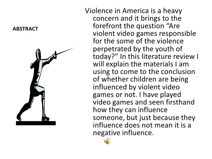 My Essay/Research Paper on Video Game Violence