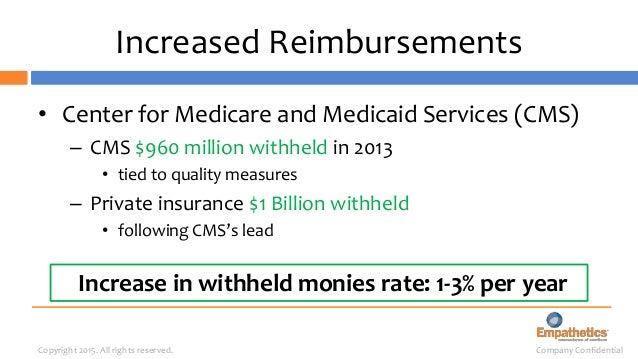 Company ConfidentialCopyright 2015. All rights reserved. Increased Reimbursements • Massachusetts: 80 Hospitals – Revenue ...
