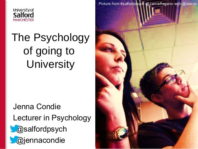 Jenna Condie Lecturer in Psychology •@salfordpsych •@jennacondie Picture from #salfordpsych @JamieRegano with @abzvic The ...