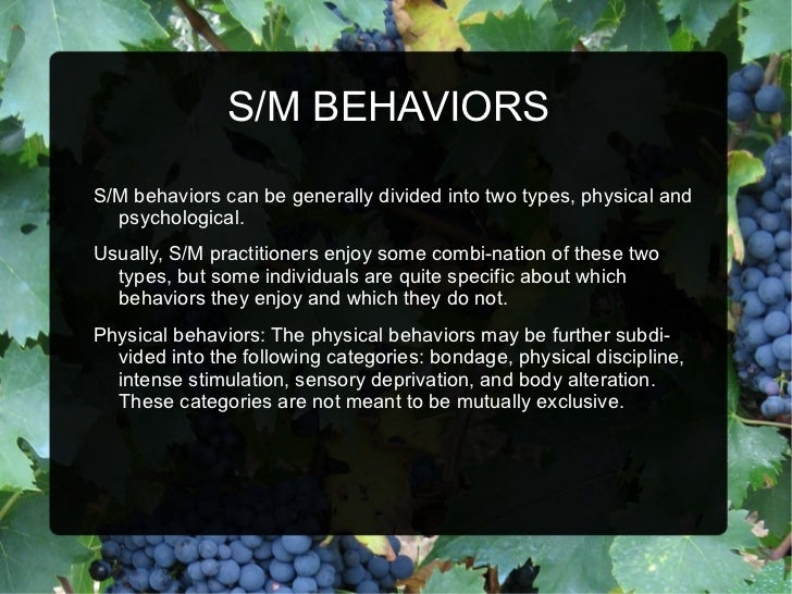 Psychology of bondage