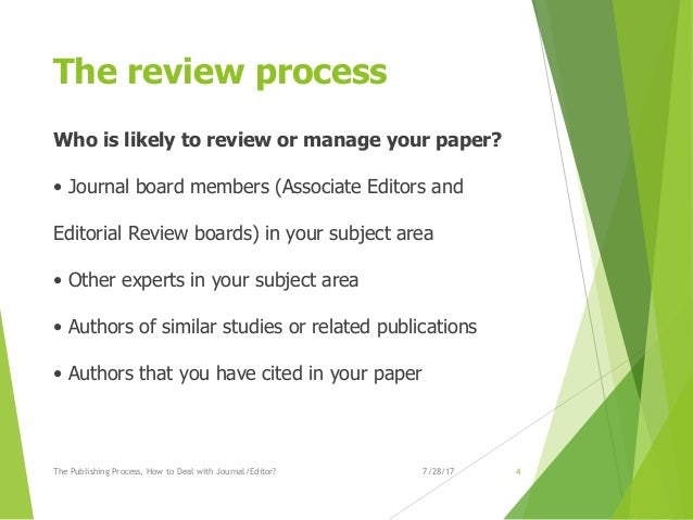 the publishing process  how to deal with journal editor