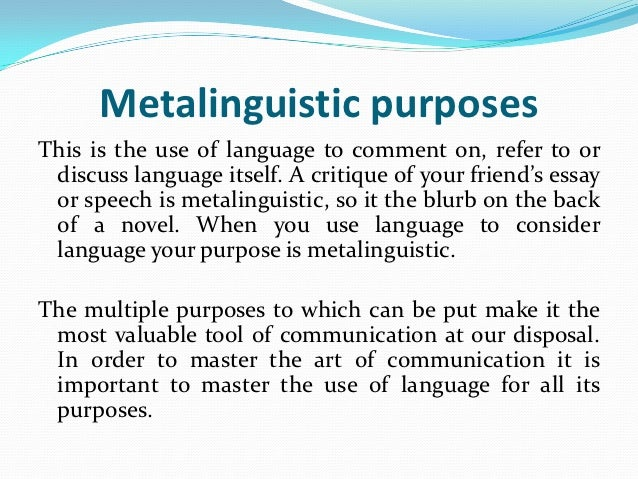 what are the functions of language in communication