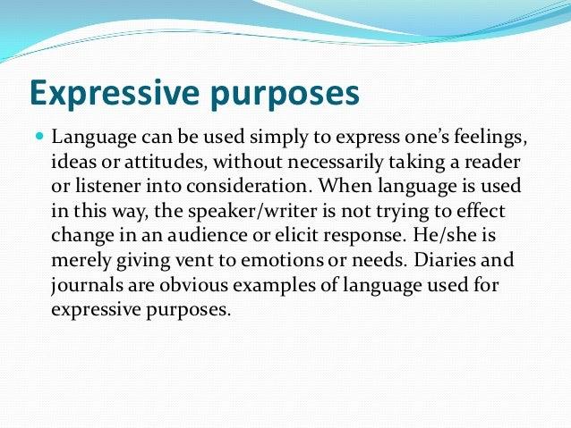The purpose of language Slide 3
