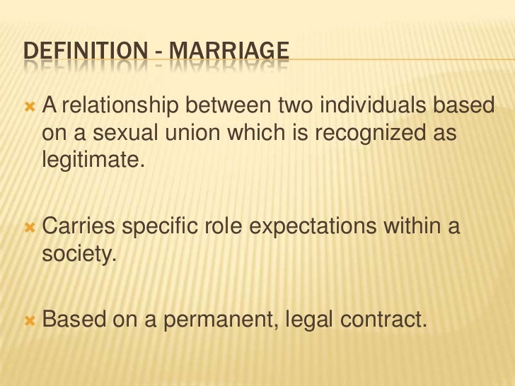 Marriage in Canada: Purposes and Legal Issues Slide 2