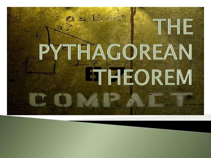 The Pythagorean Theorem<br />