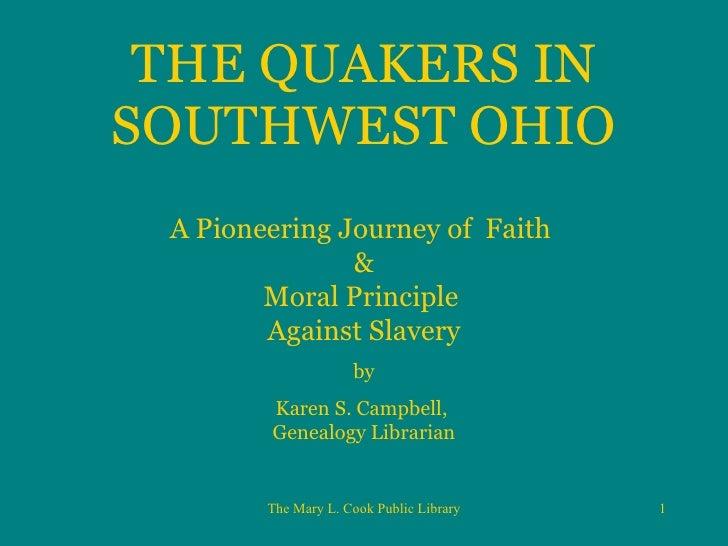 The Quakers In Waynesville, Ohio