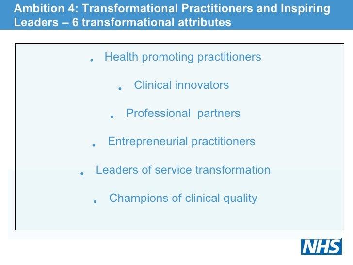 <ul><li>Health promoting practitioners </li></ul><ul><li>Clinical innovators  </li></ul><ul><li>Professional  partners </l...