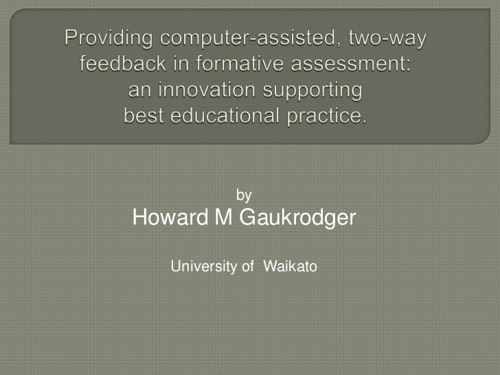 byHoward M Gaukrodger   University of Waikato
