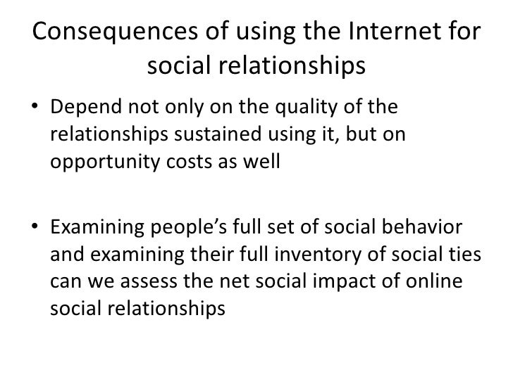 social relationships Social relationships—both quantity and quality—affect mental health, health behavior, physical health, and mortality risk sociologists have played a central role in establishing the link between social relationships and health outcomes, identifying explanations for this link, and discovering social variation (eg, by gender and race) at.