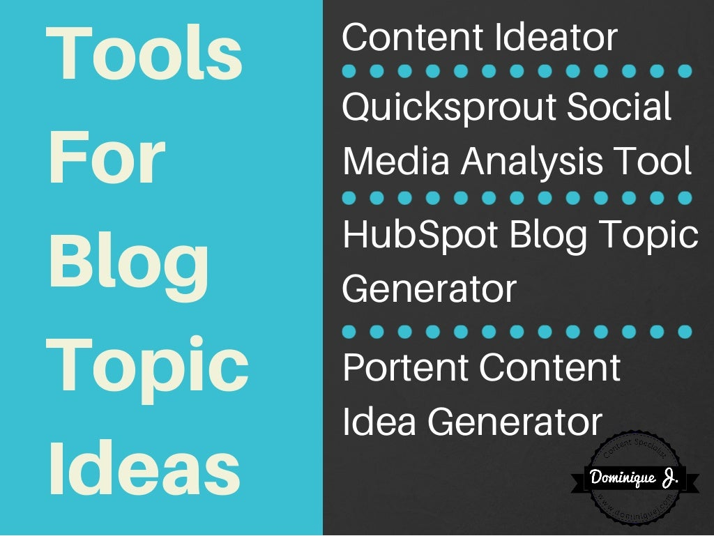 Tools For Blog Topic Ideas