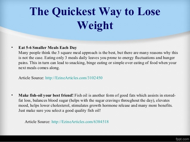 Fast Weight Loss: Good or Bad? Essay