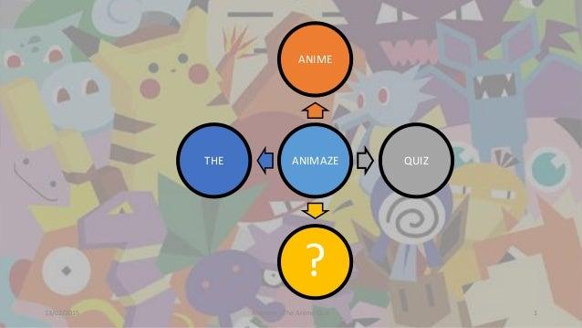 13/02/2015 Animaze - The Anime Quiz 1 ANIMAZE ANIME QUIZ ? THE