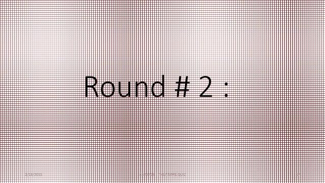 Round # 2 : 2/13/2015 ANIMAZE : THE ANIME QUIZ 17