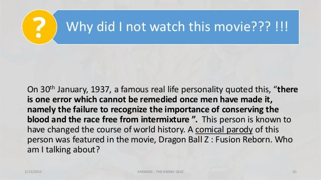 """Why did I not watch this movie??? !!! On 30th January, 1937, a famous real life personality quoted this, """"there is one err..."""