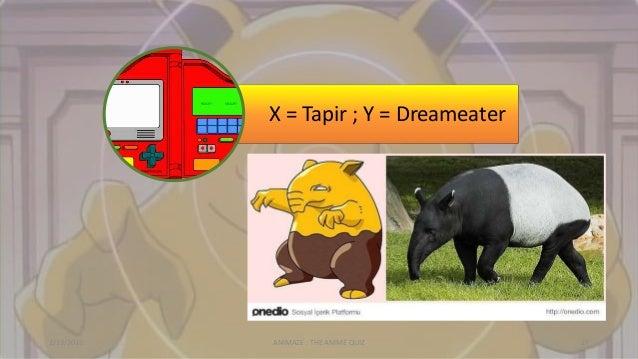 X = Tapir ; Y = Dreameater 2/13/2015 ANIMAZE : THE ANIME QUIZ 27