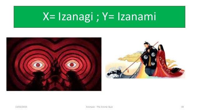 X= Izanagi ; Y= Izanami 13/02/2015 Animaze - The Anime Quiz 34
