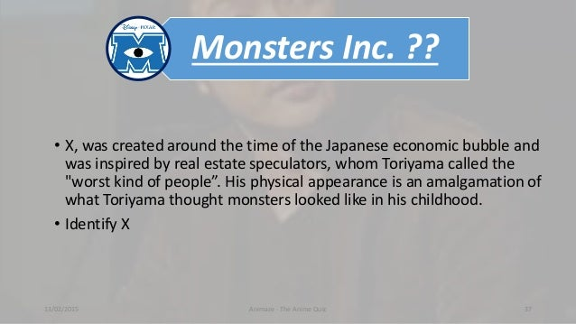 Monsters Inc. ?? • X, was created around the time of the Japanese economic bubble and was inspired by real estate speculat...