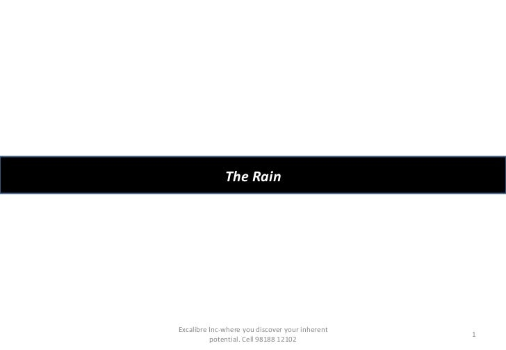 The Rain Excalibre Inc-where you discover your inherent potential. Cell 98188 12102