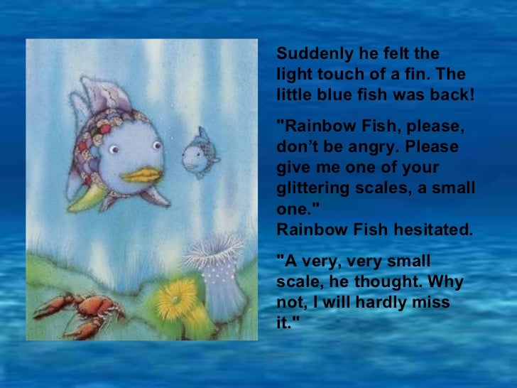 Therainbowfish story pp for Fish short story