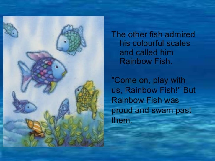 Therainbowfish story pp for Rainbow fish story