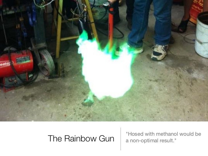 """""""Hosed with methanol would beThe Rainbow Gun   a non-optimal result."""""""