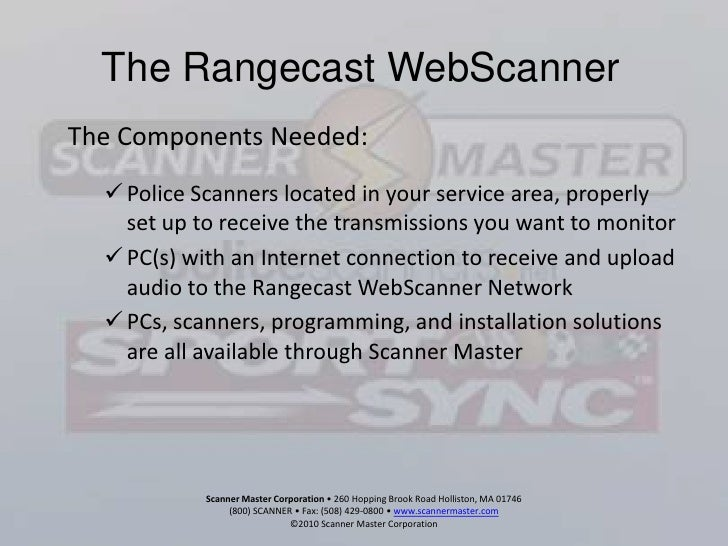 The Rangecast WebScanner for News and Local Information