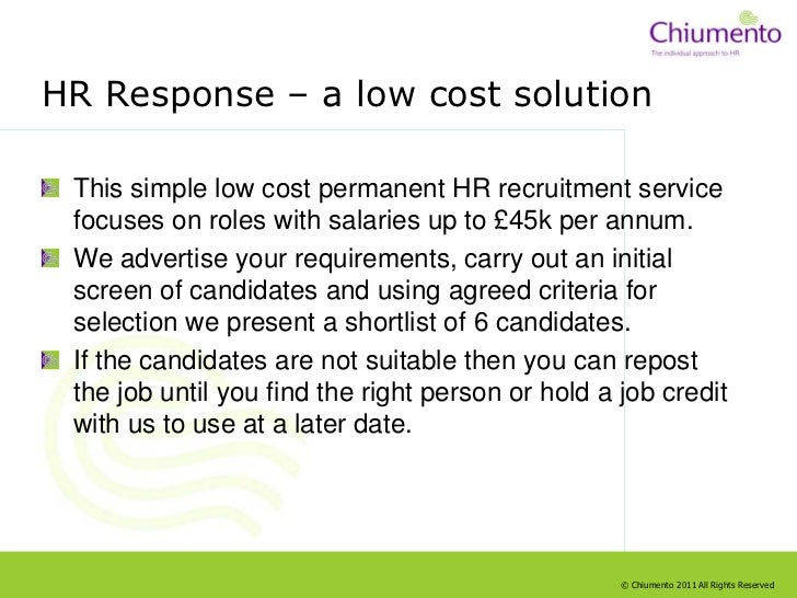 The Range Of Resourcing Solutions From Chiumento Slide 3