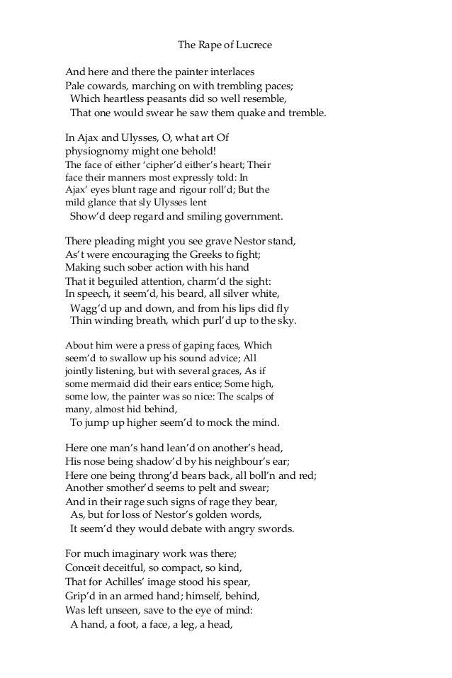 The rape of lucrece william shakespeare ebook fandeluxe Document