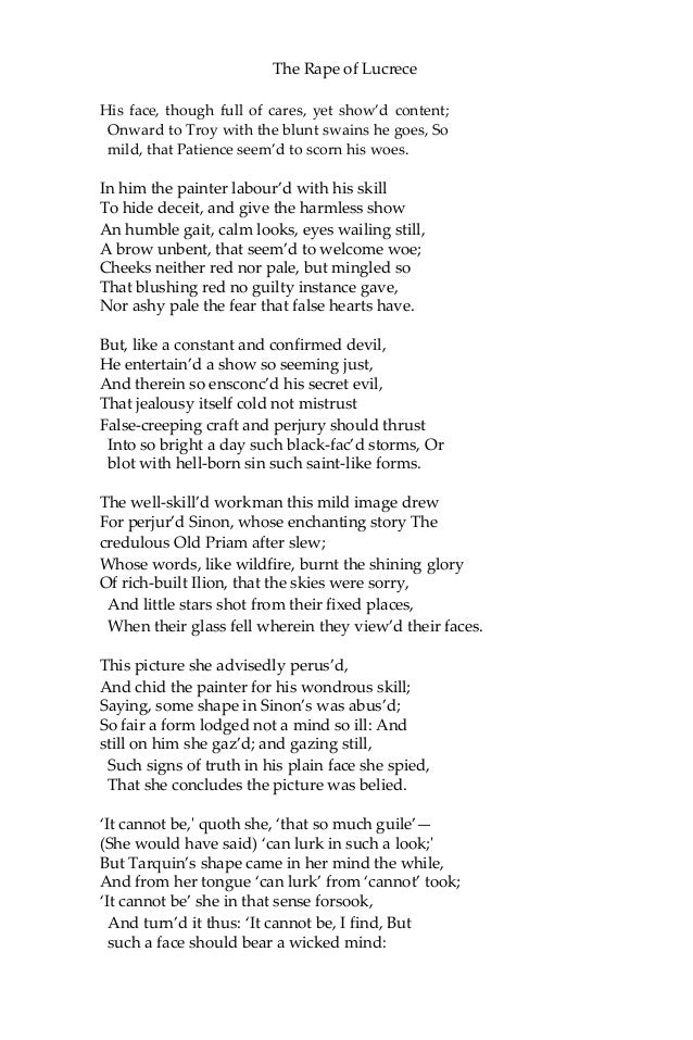 the rape of lucrece pdf