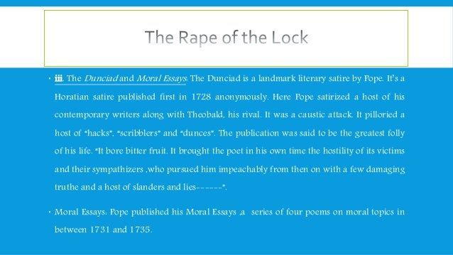 rape of lock as mock epic essay In the rape of the lock, pope adapts the style of the epic poem to present a mockery of social matters that he considers to be petty in a short essay, identify the elements of the true epic that pope uses to structure his mock epic, and explain how he incorporates these elements.